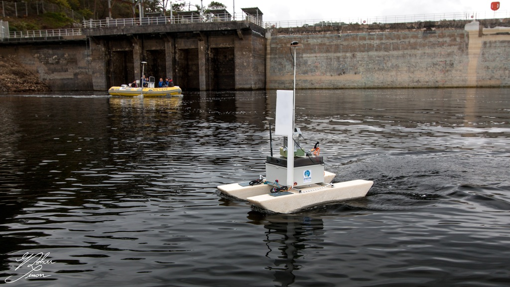 Inspection du barrage par drone et sonar